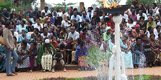People during Kwibuka ceremony
