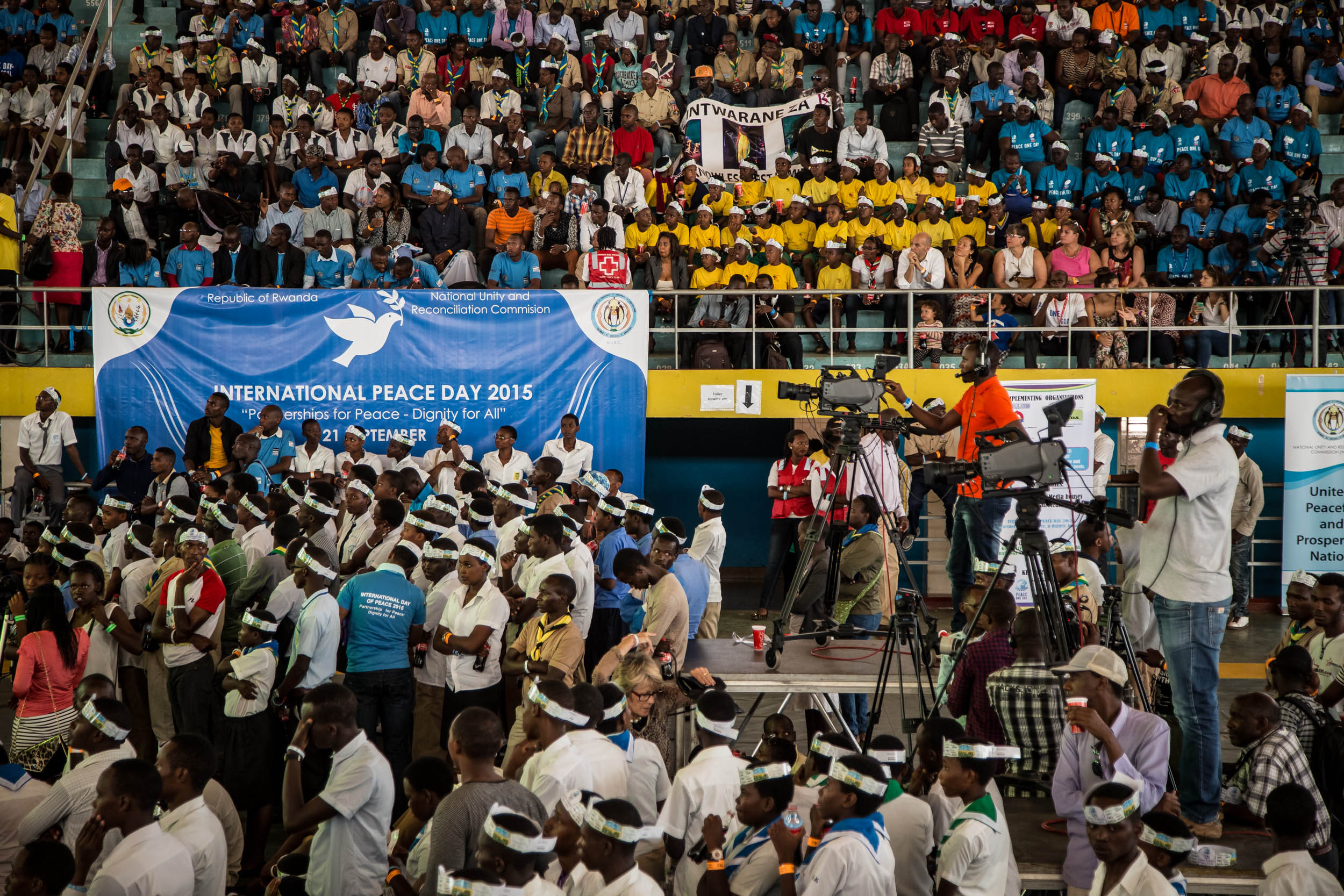 Peace One Day 2015 celebration at Amahoro Stadium